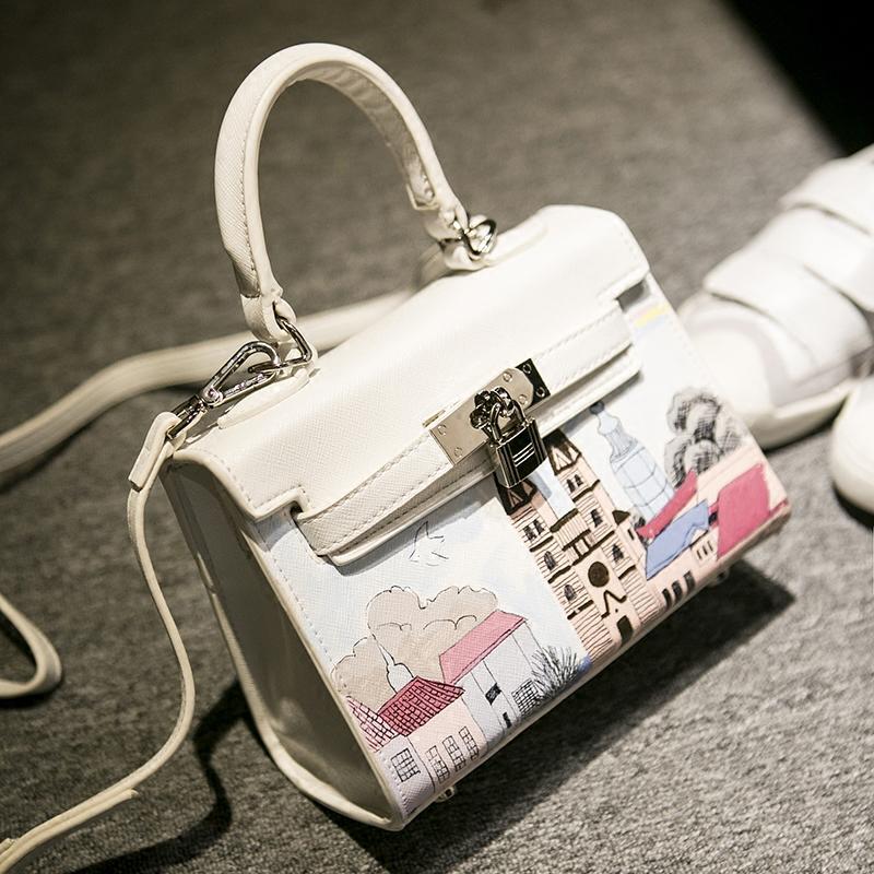 2016 Original Western BT Hand draw female bag new platinum bag bill of lading shoulder bag Fashion aslant female bag(China (Mainland))