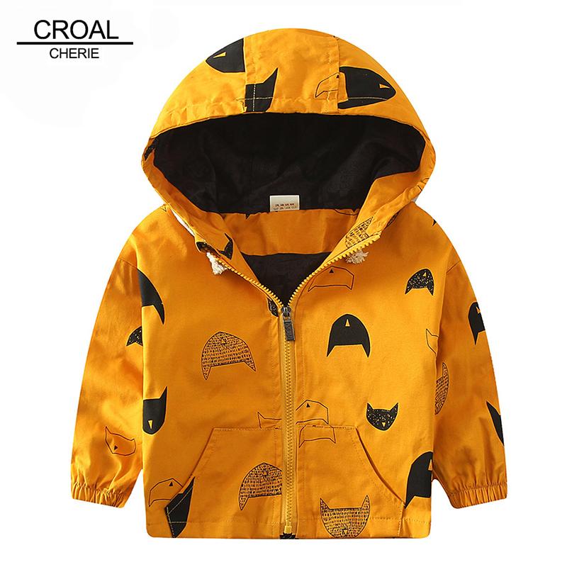 70-120cm Cute Printing Fish Kids Spring Jacket Boys Outerwear Clothing Girls Trench Coats Boy Windbreaker Children's Jackets(China (Mainland))