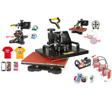 Advanced New Design 8 In 1 Combo Heat Transfer Machine,Sublimation/Heat Press Machine,Printer For Mug/Cap/TShirt /Phone case Etc(China (Mainland))