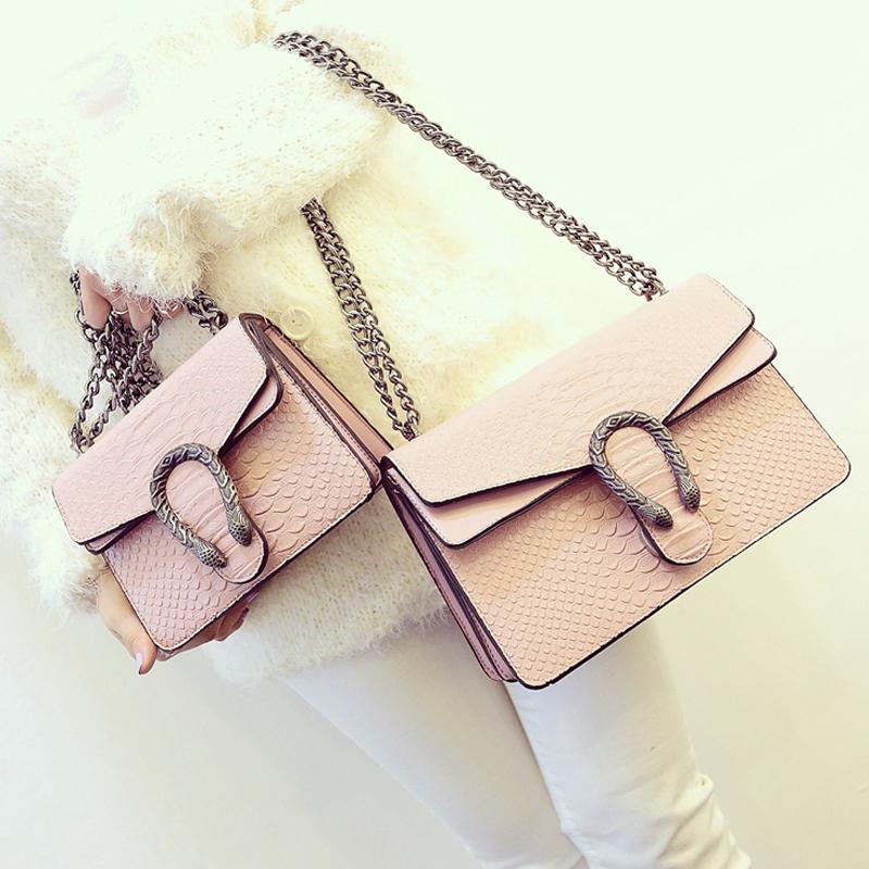 Bag 2016 bag fashion serpentine pattern embossed shoulder bag chain womens handbag messenger bag<br><br>Aliexpress