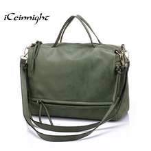 iCeinnight 2016 fashion big womens bags soft leather handbag grey women soft bag summer shoulder bag vintage messenger bag cheap(China (Mainland))
