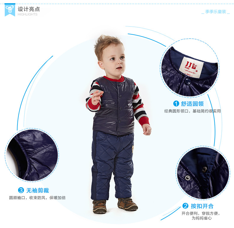 Скидки на 2015 зимний жилет для мальчиков хлопка-проложенный жилет жилет дети зима верхняя одежда soild цвет детские теплое пальто