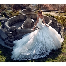 2017 Latest Lace Mermaid Wedding Dresses Sexy V neck Sheer Backless Vestido De Noiva 2017 Beading Court Train Wedding Gowns(China (Mainland))