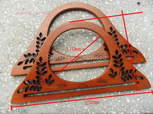 250 * 135mm  New openwork wooden handle  Wooden handles  Bag accessories  Wholesale(China (Mainland))