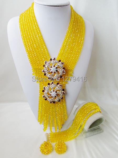 2014 Rushed  Classic Women Crystal Jewelry Sets New Arrived Nigeria Jewelry Set Necklace Africa Beads Set  AAA345<br><br>Aliexpress