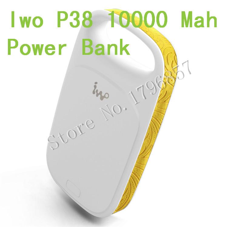 Fashion portable charger iwo P38 powerbank 10000mah USB External Backup Battery With LED light can used as a flashlight(China (Mainland))