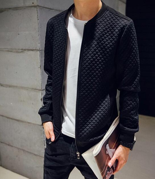 Korean style Fashion Mens jacket Patchwork Veste homme Slim fit Black Blue color Plus size XXXL XXXXL XXXXXL Autumn SpringОдежда и ак�е��уары<br><br><br>Aliexpress