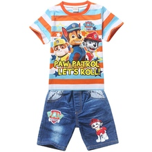 Boys clothes Summer children short sets Puppy dog Patrol kids clothing kleding jongens set conjuntos nino verano ropa(China (Mainland))