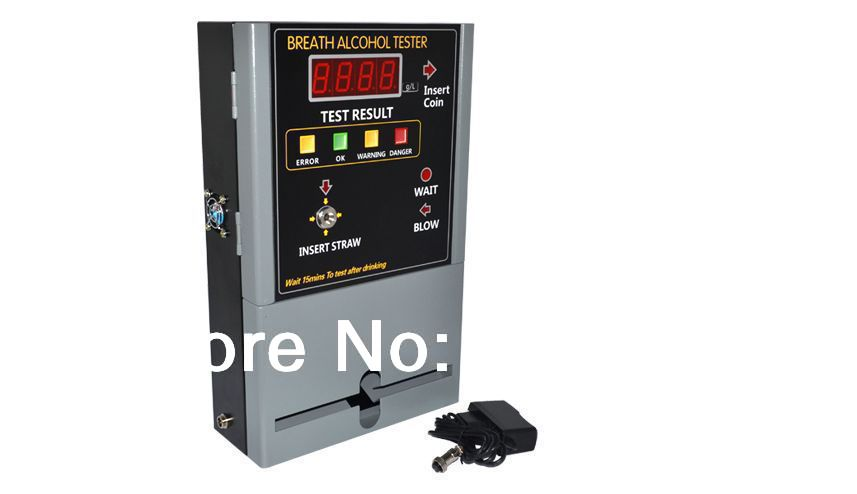 HOT SELLING Coin-operated Breath Alcohol Tester AT319 Breath sampling time about 5 seconds continuous breath(China (Mainland))