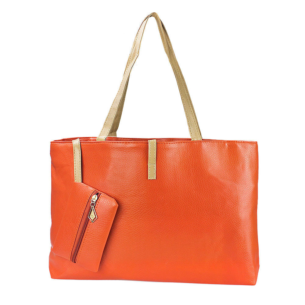 New Womens PU Leather Tote Shoulder Handbags Satchel Messenger Bag With Small Purse Hobo Free Shipping(China (Mainland))
