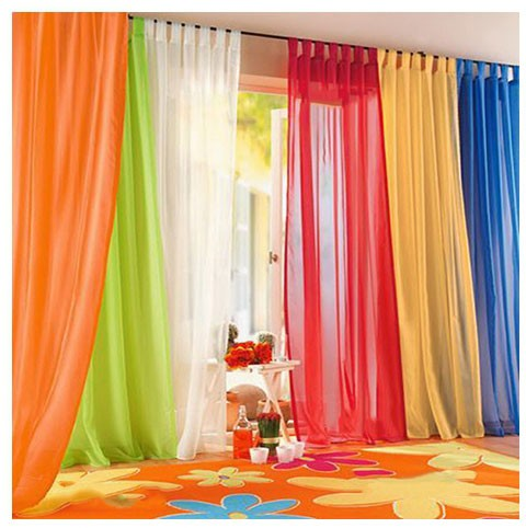 Sinogem Brand Promotion New wholesale 1 piece flower tulle curtain/gauze voile sheer tulle customized for living room Red/Purple