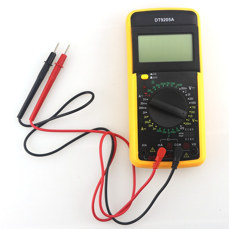 New DT9205A Digital Multimeter 3 digits LCD Test AC/DC ampere voltage Resistance Capacitant tester LCD display Portable<br><br>Aliexpress