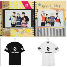 Buy Kpop got7 right print black white summer t k-pop fans support got7 short sleeve t-shirt fashion top tees for $15.99 in AliExpress store