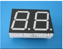 1000pcs/lot 2 digit LED display,7-segment,common-anode,red,0.36in long life pb free good quality(China (Mainland))