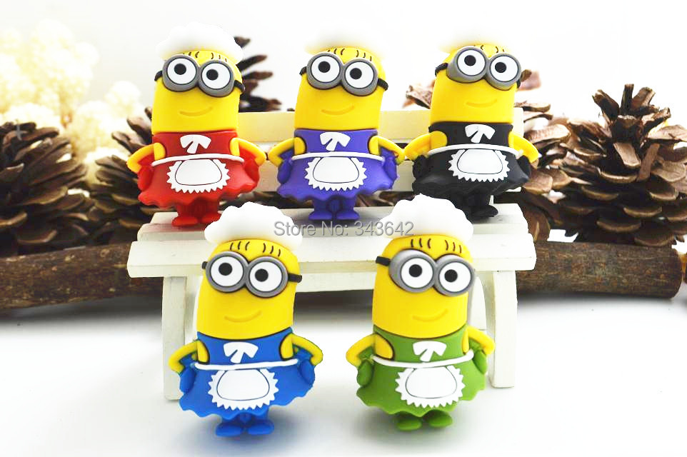 100% real capacity Minions housewife usb flash driver 8gb 16gb 32gb 64gb usb 2.0 memory flash stick pen drive full size U Disk(China (Mainland))