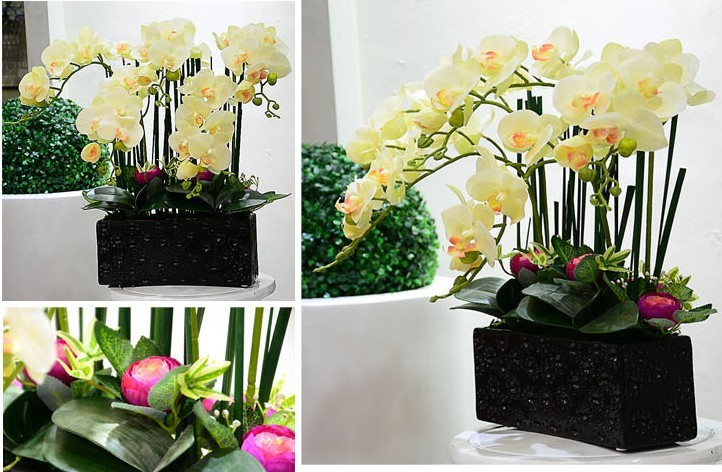 artificial flowers real touch latex phalaenopsis moth orchids table silk flower - Neo Supermarket store