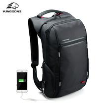 Kingsons Brand External USB Charge Antitheft Notebook Backpack-B Design for Women 15.6'' Waterproof Laptop Backpack Computer Bag(China (Mainland))