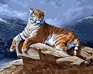 Manufactor CE SGS DIY digital canvas tiger oil painting by number4050 cm painting by numbers unique gift for child home decor(China (Mainland))