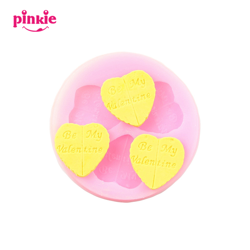be my valentine Shaped Fondant Mold,Resin Clay Chocolate Candy Silicone Cake Mould,Fondant Cake Decorating Tools Food Grade(China (Mainland))