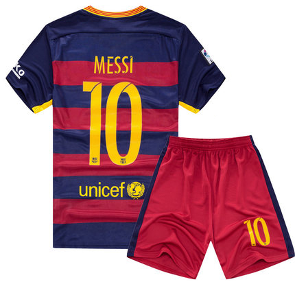 child #10 football soccer clothes suit breathable short-sleeved cool sports shirt and shorts summer children clothing U010(China (Mainland))