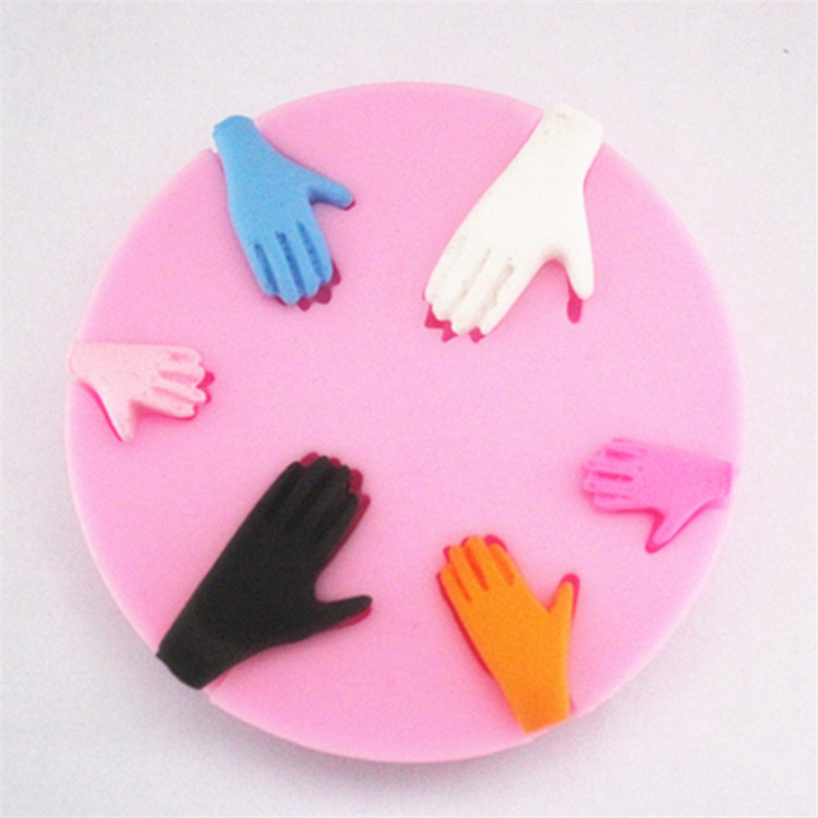 WHOLESALE silicone 3D cake moulds Lovely Baby Human Hands round fondant moule chocolate candy jelly mold paste moldes silicona d(China (Mainland))