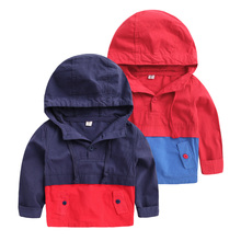 The boy stitching color jumper 2016 new spring children's baby boomer U2566 coat(China (Mainland))