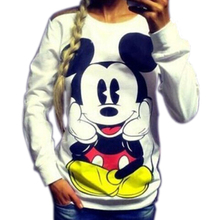 New 2015 are lovely cartoon printing quality before and after the new loose hoodies free shipping(China (Mainland))