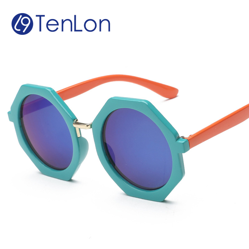 Tenlon Drop Actagon Peltate Shape Kids Sunglasses Children Super Cool baby kids Sunglasses Oculos De Sol Gafas infantile