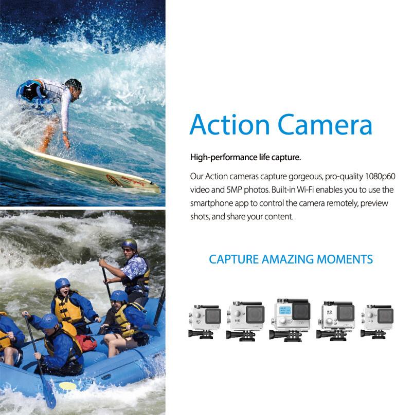 SJ4000 Gopro Style Sports DV 2 Inch Screen A9 Motion Digital camera 1080P HD 30M Waterproof Car Digital camera DVR Digital Camcorder1