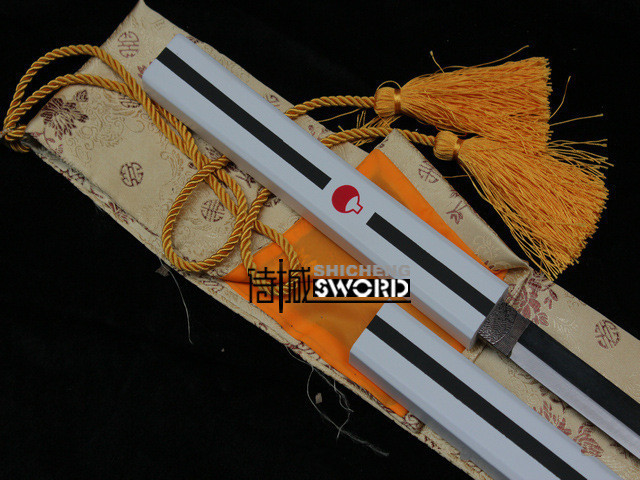 Naruto Uchiha Sasuke Cosplay Costume sword Kusanagi swords weapon white black,made of metal,high quality katana samurai japanese(China (Mainland))