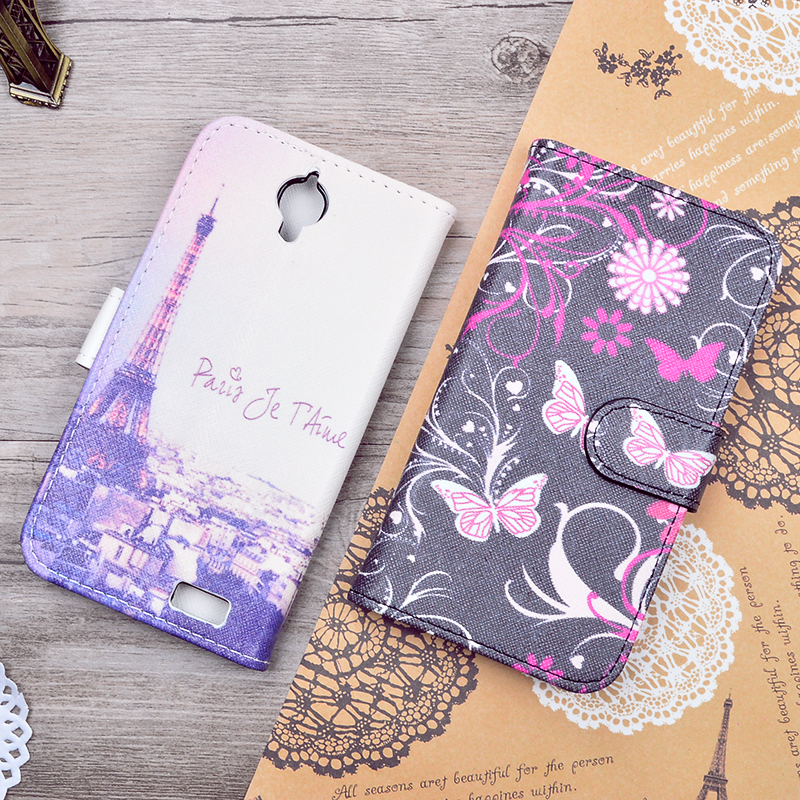For Alcatel One Touch Pop C5 5036 OT5036 5036D Wallet PU Leather Phone Bag Cover Carton Pattern Flip Case With Stand Fuction(China (Mainland))