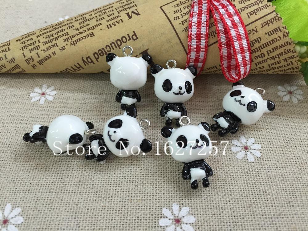 Free shipping!Cute charms. 3D resin kawaii panda pendant for jewelry/phone decoration.key chain,DIY(China (Mainland))