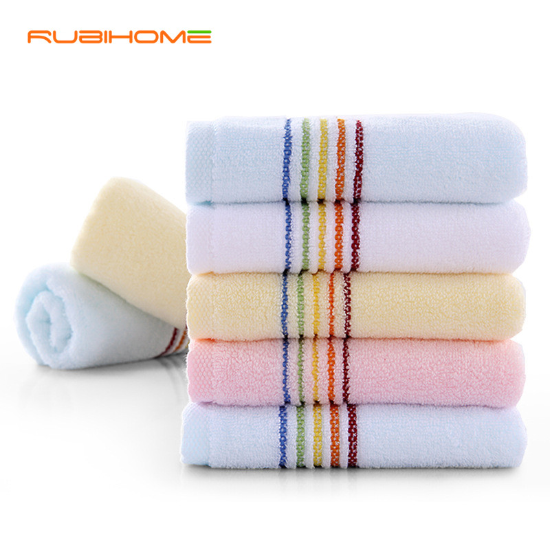1 piece Rainbow Prind 100% Cotton Face Towel For Adult Woman Man Square 33x72 cm In Bathroom Factory Direct(China (Mainland))