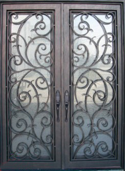 Best Door Rot 0213 Wrought Iron Exterior Door With Free Shipping And 8 Glass Types In Doors From