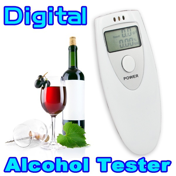 2pcs/lot Portable Breath Alcohol Analyzer measure Digital Breathalyzer Tester Meter LCD Display Testing in Two Units: %BAC & g/L(China (Mainland))