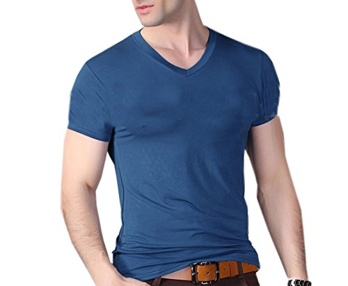 4 size 6 Colors Men's Tops Tees 2016 summer new cotton v neck short sleeve t shirt men fashion trends fitness tshirt(China (Mainland))