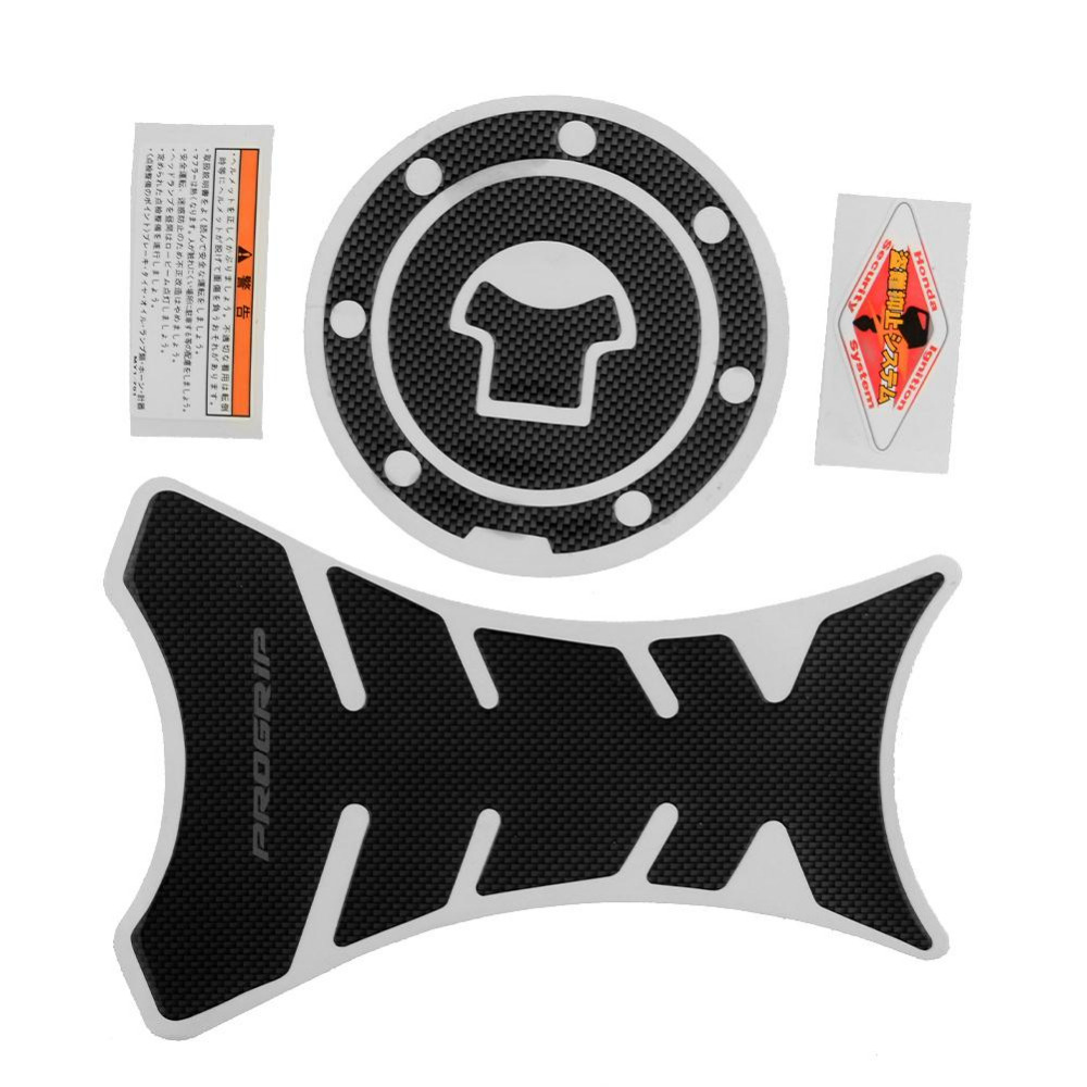Car-styling 2016 New Motorcycle Progrip Carbon Tank Pad Protector Sticker + Gas Cap Nice Decor for you motorcycle(China (Mainland))