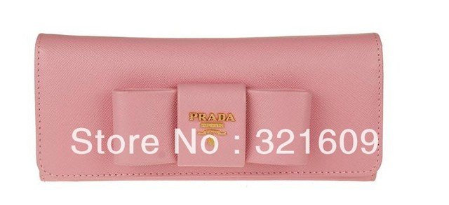 DHL free shipping   brand wallet  bow real  leather  wallet