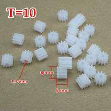 Buy RC Model Small Motor Copper Gear Pinion (M=0.5 T=10 D=6 H=5.5 d=1.9) (10 pieces/bag) for $4.75 in AliExpress store