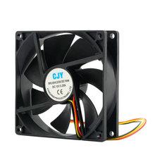High Quality 1pc 12V 3-Pin 9cm 90 x 25mm 90mm CPU Heat Sinks Cooler Fan DC Cooling Fan 65 CFM(China (Mainland))