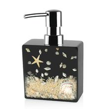 New DIY Seashell Style Sanitizer Soap Dipenser Shower Gel Bottles Resin Made Bathroom Accessory Latex Bottle(China (Mainland))