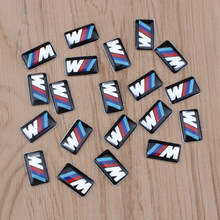 Buy 10PCS M Emblem Sticker Wheel Decal Fit BMW X1 X2 X3 M1 M3 M5 M6 for $3.61 in AliExpress store