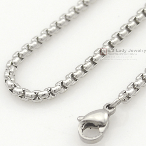 USD 0.99 women Silver Stainless Steel Chain Men Necklace Jewelry Accessories, link chain body chain Wholesale Free Shipping(China (Mainland))