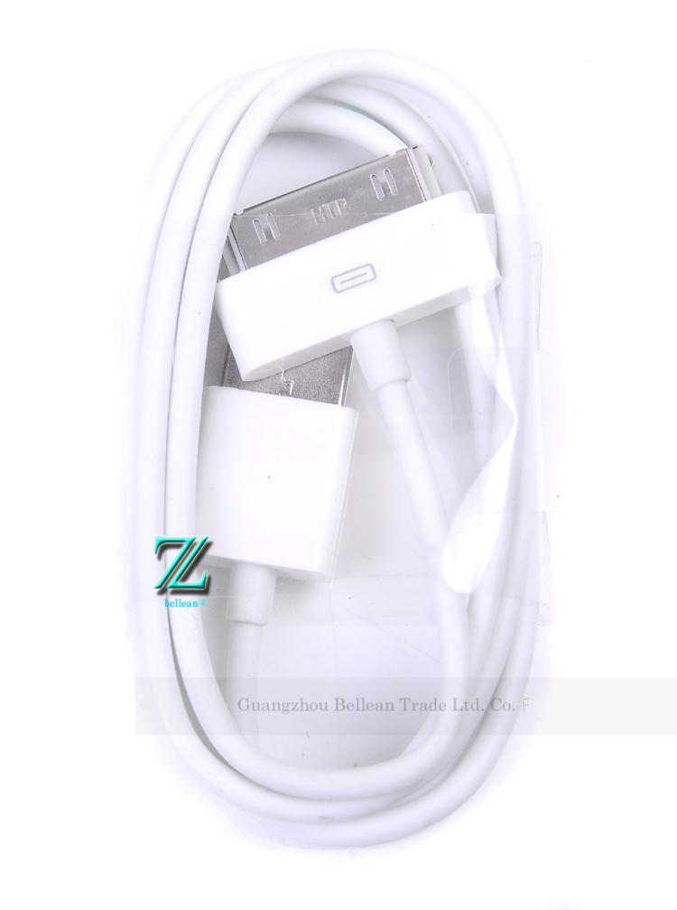 100% warranty USB Data cables Charger Cable adapter cabo kabel for iPhone 4 4G 4S for iPod for iPad 2 free shipping china post(China (Mainland))