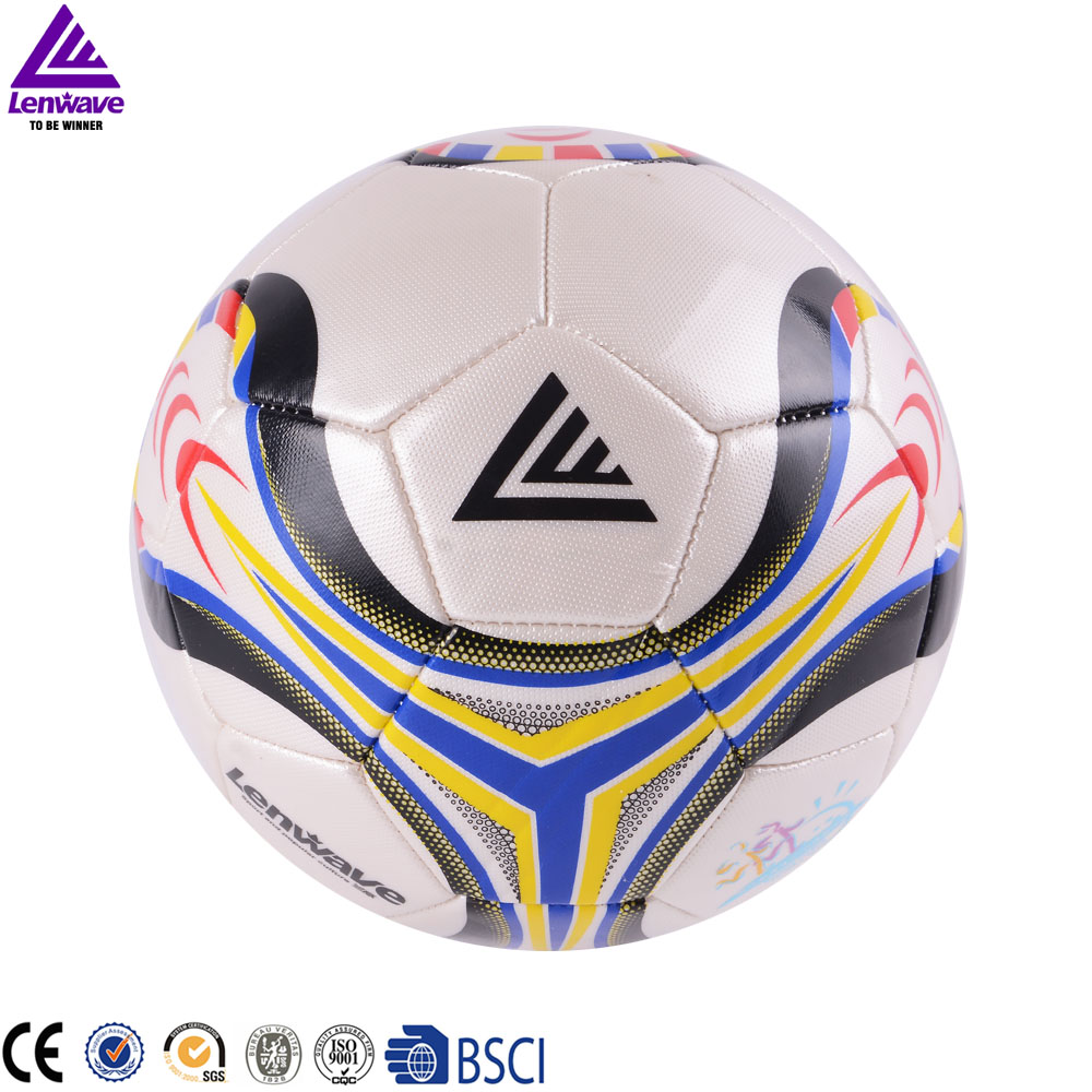 2016 New Lenwave Brand PU Soccer Ball Premiership Champions League Official Size 5 Football Balls Free Shipping(China (Mainland))