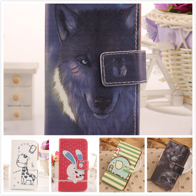 Lovely Cartoon Wallet style PU Leather Protective Card holder Magnetic Clasp Cell phone Flip Case For CUBOT X11(China (Mainland))