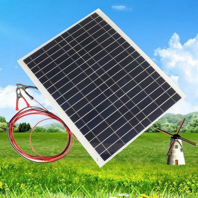 20W 12V Solar Panel Polycrystalline Silicon Semi Flexible Solar Board Power Generater For Battery RV Car Boat Aircraft Tourism(China (Mainland))