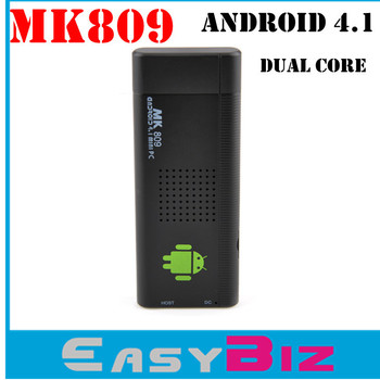 New Arrival Free Shipping mk809 Android 4.1 Google TV Dongle Dual Core Cortex A9 WiFi 1080P 3D RK3066 Mini PC