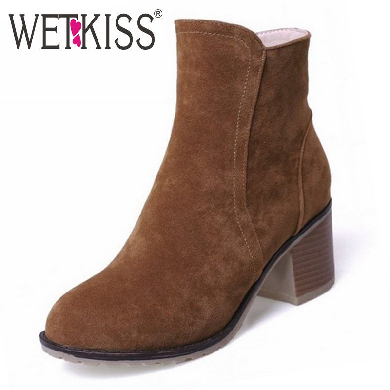 Fashion Women Ankle Boots Vintage Nubuck Woomen Martin Boots Thick Heels Motorcycle Boots Fashion Women Spring Fall Casual Shoes(China (Mainland))