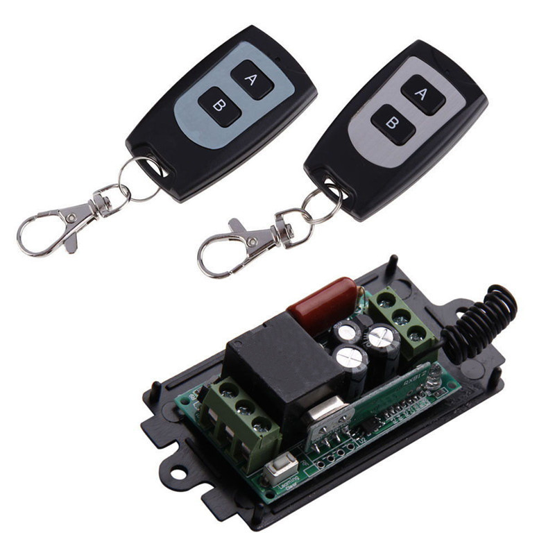 220V 1CH RF Wireless Remote Switch Wireless Light Lamp LED Switch 1 Receiver 2 Transmitter 315MHZ Remote ON OFF Controller(China (Mainland))